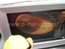 プロテインカップケーキ カップを電子レンジで加熱します