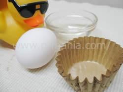 卵の白身でタンパク質補給 材料の準備