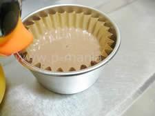 プロテイン蒸しケーキ 容器に入れる