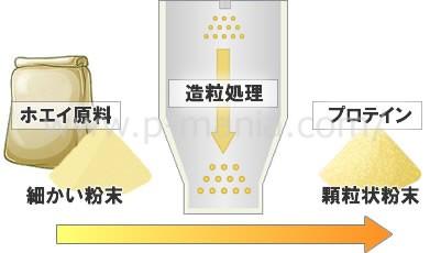 プロテインの造粒処理